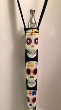 Lanyard KeyChain Sugar Skulls Skull Vapor Battery Case Holder e-cig ego eVod pen
