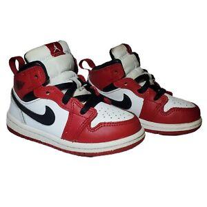 Air Jordan 1 Mid TD Chicago White Red Black BRED Origin Banned Toddler Size 7C