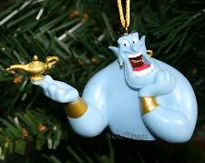 NEW Disney Aladdin Movie Blue GENIE Bust with Magic LAMP Christmas Ornament PVC