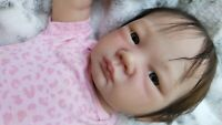 reborn baby dolls girl newborn Japanese baby.  By Dawn Murray McLeod.