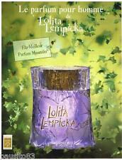 PUBLICITE ADVERTISING 105  2002  LOLITA LEMPICKA   élu meilleur parfum MASCULIN