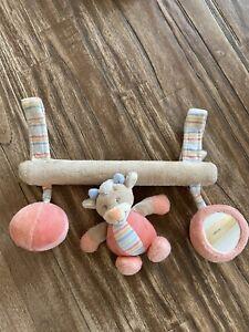 Nattou Mobile für Babyschale Laufgitter Kinderwagen mit kleinem Spiegel Rosa