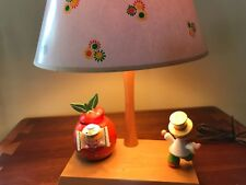 Vtg 3 in 1, Nursery Originals Wood Lamp, Night light & Music Box , w Shade 1977