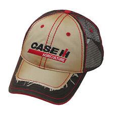 Case IH Tan/Brown Distressed Men's Mesh Back Cap