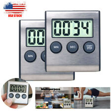 Digital Kitchen Timer Stopwatch Count Down Up Cooking Loud Alarm Magnetic Stand