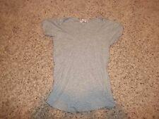 "Juniors ""Op"" Gray Short Sleeve Blouse Size M(7/9)"