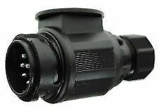 MP124B 12V 13 PIN TWIN CABLE CONVERSION PLUG CARAVAN TOW LEAD ADAPTOR