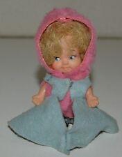 Nice Vintage 1965 Uneeda Pee Wees Small Clothed Vinyl Doll Rare