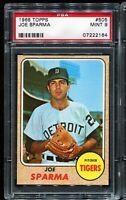 1968 Topps Baseball #505 JOE SPARMA Detroit Tigers PSA 9 MINT