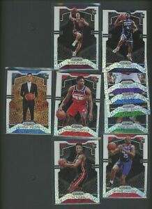 Investor Lot (10) Different 2019-20 Panini White Sparkle Prizm RC Rookie /20 SP