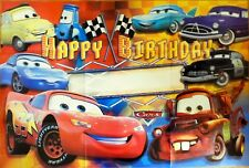 DISNEY CARS LIGHTNING MCQUEEN HAPPY BIRTHDAY PARTY POSTER BANNER PARTY SUPPLIES