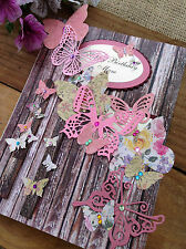 Large Handmade Personalised Butterflies on Fence - Sister Daughter Friend Mum
