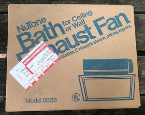 NuTone Bathroom Exhaust Fan 8833 Ceiling or Wall Mount NOS 1987 Made USA vtg