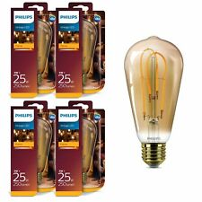 4er Pack Philips 8718696743058 E27 Vintage LED Flame Leuchtmittel 5W (25W) 2000k