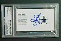 Jerry Jones Dallas Cowboys Owner General Mgr Autograph Signed Business Card PSA