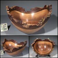 BLACK WALNUT G+ bowl #14056 made by Smithsonian Artist, David Walsh