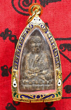 Luang Phor Tuad Wan Wat Changhai be.2497 Rare thai Amulet holy Pendant casing.U3