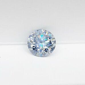 Diamante in Moissanite Blu grigio da 0.5 ct a 7.0 ct Round Diamond Grayish Blue