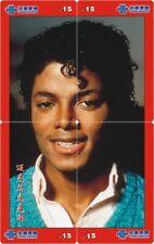 Michael Jackson 4 telefoonkaarten/télécartes  (MJ66-77 4p)