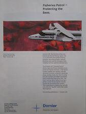 2/1994 PUB DORNIER 228 FISHERIES PATROL PECHE AIRCRAFT FLUGZEUG ORIGINAL AD
