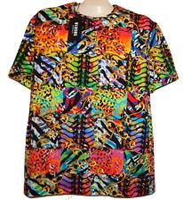 Versus Versace Men's Brite Multicolor Logo Cotton Italy T-Shirt Shirt Sz L