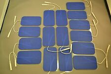 16 Replacement Pads for Massagers / Tens Units electrode 2 x 3.5Inch Blue Cloth