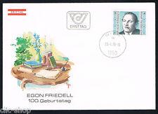 AUSTRIA 1 BUSTA PRIMO GIORNO FDC E. FRIEDELL 1978