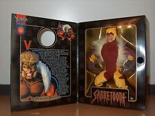 MIB Marvel Famous Cover Series Sabretooth Toy Biz 8in 1999