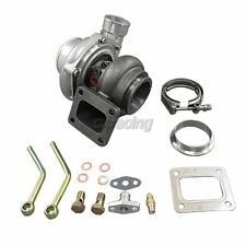 """CXRacing GT35 T4 Turbo Charger Anti-Surge 500+ HP + 3"""" V-Band Clamp Flange Kit"""