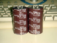 2 PIECES NIPPON CHEMI-CON KMM 470uF 500V 105C ELECTROLYTIC CAPACITOR