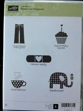 """PATTERNED OCCASIONS"" Stampin'UP! NEW~CLEAR/CLING unmounted- SAB-Elephant-cake"