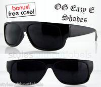 OG Eazy E Black Wrap Locs SUPER DARK Car Motorcycle Sunglasses Cholo X Sports