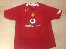 VINTAGE NIKE MANCHESTER UNITED FC SOCCER/FUTBOL 2004-06 L RED JERSEY EPL PREOWNE