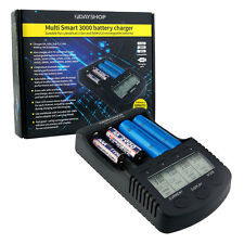 ProSeries Intelligent LCD AA AAA NiMH and 18650 Li-Ion Battery Charger MultiSmar