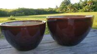 "2 PIECE Bowl Set SANGO  NOVA BROWN #4933 Stacking Mixing Bowls. 9"" and 8"""