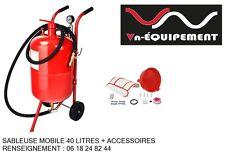 Sableuse mobile Sablage Microbilleuse Aerogommeuse 40 litres + accessoires
