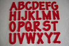IRON ON RED FELT LETTERS & NUMBERS - CHOOSE YOUR AMOUNT - FREE P&P