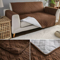 Waterproof Sofa Slip Cover Reversible Quilted Furniture Pet Pad Protector Throw
