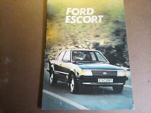 FORD ESCORT OWNERS MANUAL 1981. Early and rare