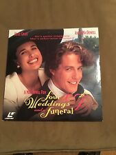 Four weddings and a funeral laserdisc