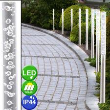 8er Set LED Solar Lampen Garten Veranda Erdspieß Steck Außen Leuchten Edelstahl