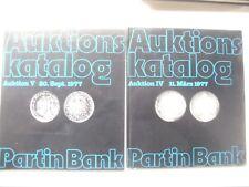Konvolut, Lot  von 4 Auktionskatalogen IV - VII(1977- 1979,Partin Bank, s.Scan