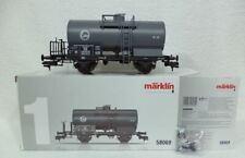 Marklin 58069 Zeer fijn afgewerkte ketelwagen oudere type EVA met remplatform