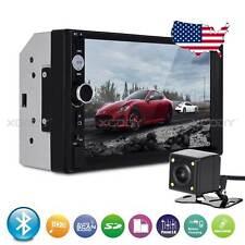 "7"" Car Stereo Radio MP5 Player 2 Din Bluetooth USB Input FM 4LED Camera 7010 US"