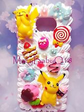 Pikachu case for iphone 7 7+ 6 6S+ and ALL iPhone models handmade decoden cream