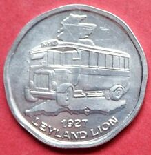 GREAT BRITAIN  VINTAGE ALUMINIUM 50p NATIONAL TRANSPORT TOKEN   LEYLAND LION BUS