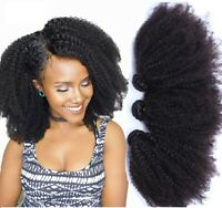 Afro Kinkys Cheveux Humains 3 Bundles Brésiliens Kinky Curly Humains Cheveux