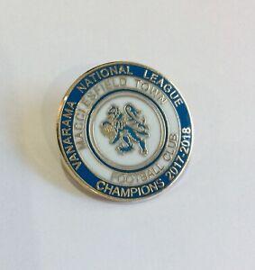 MACCLESFIELD TOWN FC Football Club Badge Enamel Non League RARE 2018 PIN 2