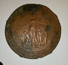 ANTIQUE NEW YORK JUVENILE ASYLUM MEDAL PLACARD ORPHAN TRAIN NYC HISTORY