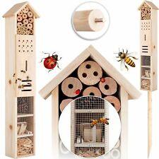 KESSER® Insektenhotel mit Erdspieß Schmetterlinge Bienen Insektenhaus Holz XXL